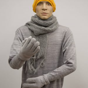 Thermal manikin dressed in warm clothing