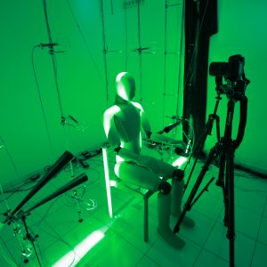 Thermal manikin being the subject of a test